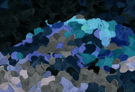 abstract creative painting style with very dark blue, medium aqua marine and steel blue colors. 스톡 콘텐츠