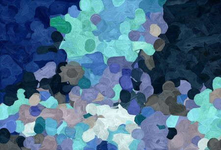 abstract colorful grunge painting style with dark slate gray, sky blue and very dark blue colors.