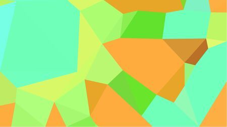 abstract geometric background with aqua marine, pastel orange and pale green color triangles. can be used for wallpaper, poster, cards or graphic elements.