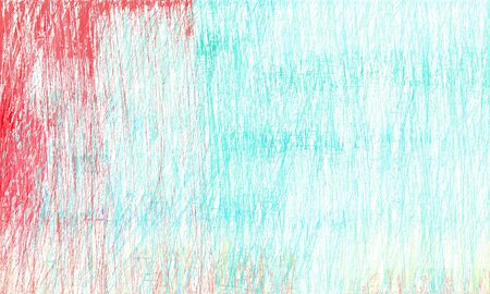 creative abstract drawing strokes background with white smoke, turquoise and pastel red colors. can be used as wallpaper, background or graphic element.