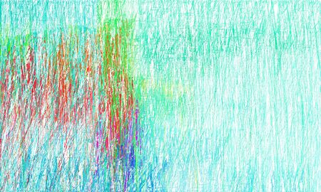 abstract drawing strokes background with copy space for text or image with turquoise, light cyan and moderate red colors. can be used as wallpaper, background or graphic element.