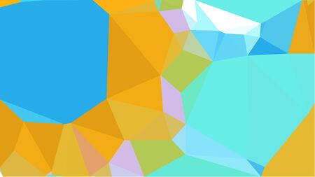 abstract geometric background with sky blue, golden rod and dodger blue color triangles. can be used for wallpaper, poster, cards or graphic elements. Stock Photo