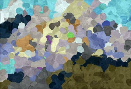 abstract decoration painting style with light slate gray, pastel gray and very dark blue colors. Stock Photo