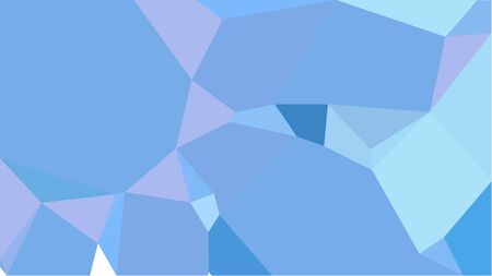 triangles background with corn flower blue, light blue and mint cream colors. can be used for wallpaper, poster, cards or graphic elements. Stock Photo