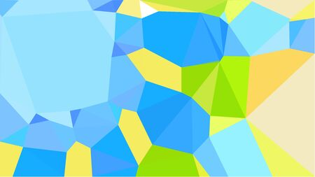 triangles background with green yellow, dodger blue and light sky blue colors. can be used for wallpaper, poster, cards or graphic elements.