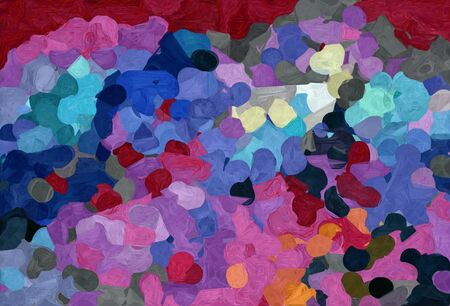 abstract creative painting style with dark slate blue, pale violet red and dark pink colors.