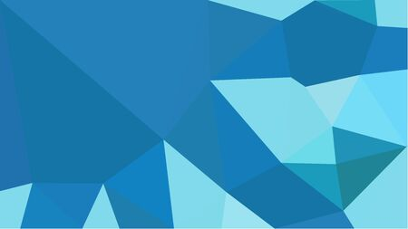 colorful triangles background with strong blue, sky blue and light blue colors. can be used for wallpaper, poster, cards or graphic elements. Stock Photo