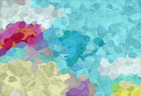 abstract natural painting style with sky blue, pastel gray and moderate pink colors.