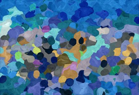 abstract colorful grunge painting style with teal blue, rosy brown and medium aqua marine colors. 스톡 콘텐츠