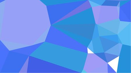 geometric multicolor triangles with corn flower blue, royal blue and light pastel purple color. abstract background graphic. can be used for wallpaper, poster, cards or graphic elements.