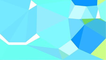 multicolor triangles with light sky blue, tea green and dodger blue color. abstract geometric background graphic. can be used for wallpaper, poster, cards or graphic elements. Stock Photo