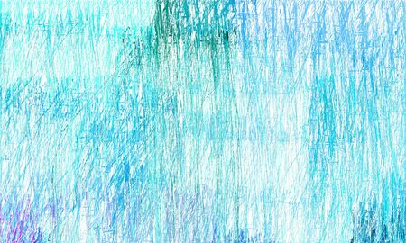 old grungy drawing background with light cyan, dark turquoise and sky blue colors. can be used as wallpaper, background or graphic element. Stock Photo