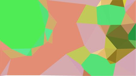 colorful triangles background with pastel green, dark salmon and olive drab colors. can be used for wallpaper, poster, cards or graphic elements.