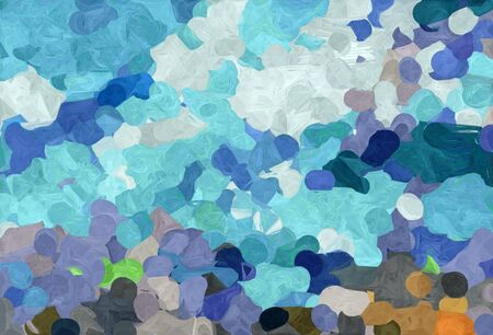 abstract creative painting style with cadet blue, medium aqua marine and light gray colors.