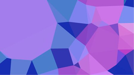 abstract geometric background with medium purple, royal blue and orchid color triangles. can be used for wallpaper, poster, cards or graphic elements. Reklamní fotografie - 130149862