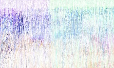 creative abstract drawing strokes background with lavender, royal blue and sky blue colors. can be used as wallpaper, background or graphic element.
