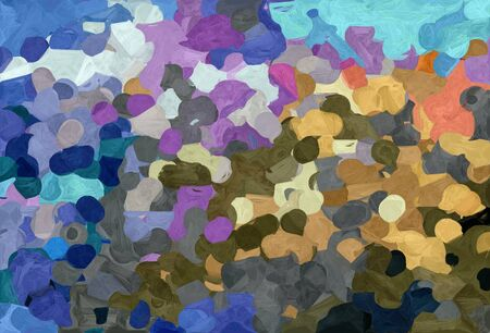 abstract decoration painting style with dark slate gray, tan and sky blue colors.