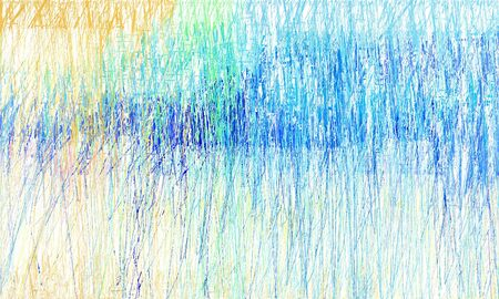 grunge drawing strokes background with copy space for text or image with dodger blue, corn flower blue and beige colors. can be used as wallpaper, background or graphic element.