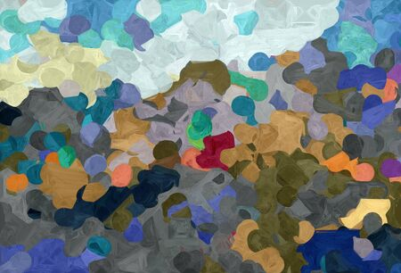 abstract natural painting style with dark slate gray, pastel gray and medium aqua marine colors. 스톡 콘텐츠