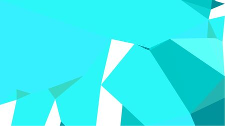 triangles background with bright turquoise, turquoise and dark turquoise colors. can be used for wallpaper, poster, cards or graphic elements.
