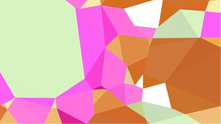 multicolor triangles with bronze, neon fuchsia and tea green color. abstract geometric background graphic. can be used for wallpaper, poster, cards or graphic elements.