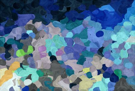 abstract natural painting style with teal blue, silver and medium aqua marine colors.