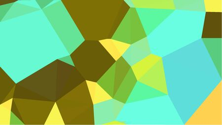 multicolor triangles with aqua marine, olive and pastel green color. abstract geometric background graphic. can be used for wallpaper, poster, cards or graphic elements.