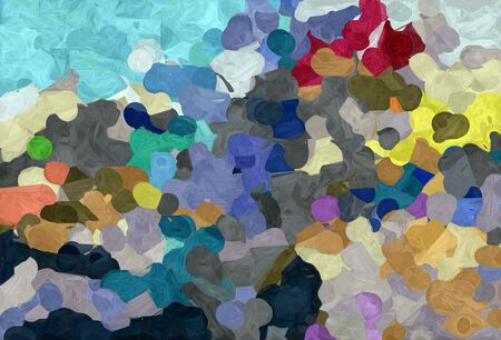 abstract natural painting style with dark slate gray, tan and sky blue colors. Stock Photo
