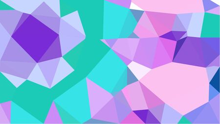 geometric multicolor triangles with plum, turquoise and blue violet color. abstract background graphic. can be used for wallpaper, poster, cards or graphic elements. Reklamní fotografie - 130149917