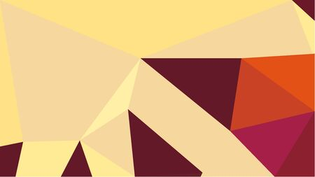 multicolor geometric triangles with khaki, firebrick and sea shell color. abstract background graphic. can be used for wallpaper, poster, cards or graphic elements.