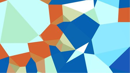 geometric multicolor triangles with strong blue, bronze and pale turquoise color. abstract background graphic. can be used for wallpaper, poster, cards or graphic elements. Stock Photo - 130149937