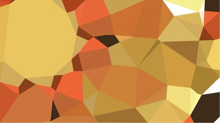 multicolor triangles with peru, sandy brown and very dark green color. abstract geometric background graphic. can be used for wallpaper, poster, cards or graphic elements.