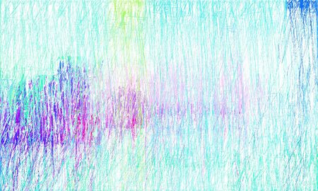 creative colorful drawing strokes background with lavender, alice blue and turquoise colors. can be used as wallpaper, background or graphic element. Stock Photo