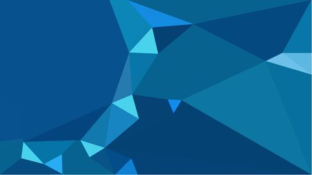 colorful triangles background with teal, medium turquoise and dodger blue colors. can be used for wallpaper, poster, cards or graphic elements. Stock Photo - 130149979