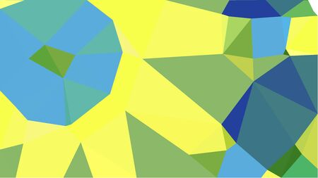 colorful triangles background with khaki, corn flower blue and dark sea green colors. can be used for wallpaper, poster, cards or graphic elements.