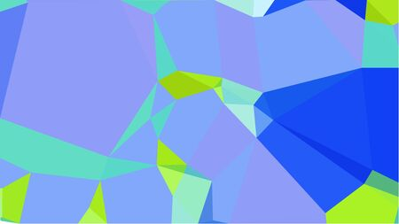 colorful triangles background with corn flower blue, royal blue and green yellow colors. can be used for wallpaper, poster, cards or graphic elements.