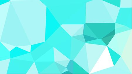 abstract geometric background with turquoise, pale turquoise and aqua marine color triangles. can be used for wallpaper, poster, cards or graphic elements.