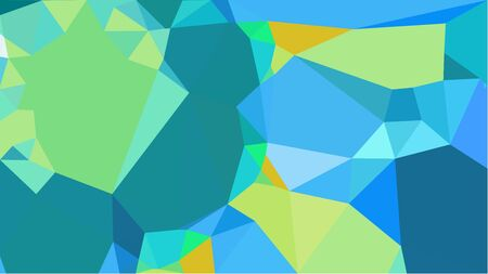 abstract geometric background with dark cyan, light green and medium turquoise color triangles. can be used for wallpaper, poster, cards or graphic elements.
