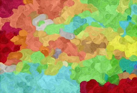 abstract decoration painting style with dark khaki, firebrick and sky blue colors.