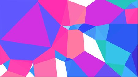 geometric multicolor triangles with royal blue, neon fuchsia and medium turquoise color. abstract background graphic. can be used for wallpaper, poster, cards or graphic elements. Stock Photo