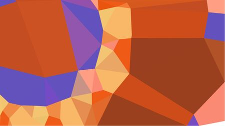 multicolor triangles with coffee, slate blue and sandy brown color. abstract geometric background graphic. can be used for wallpaper, poster, cards or graphic elements.