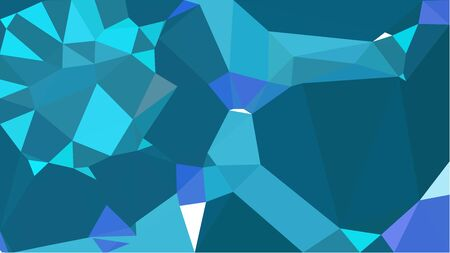 abstract geometric background with teal, turquoise and steel blue color triangles. can be used for wallpaper, poster, cards or graphic elements. Stock Photo