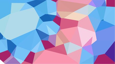 geometric multicolor triangles with sky blue, corn flower blue and steel blue color. abstract background graphic. can be used for wallpaper, poster, cards or graphic elements. Stock Photo - 130150048