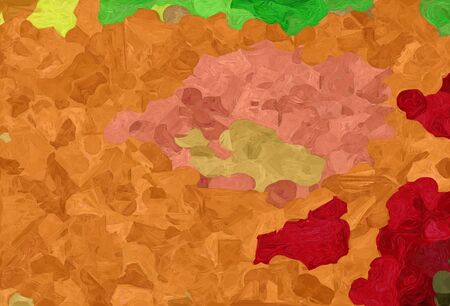 abstract colorful grunge painting style with bronze, forest green and firebrick colors.