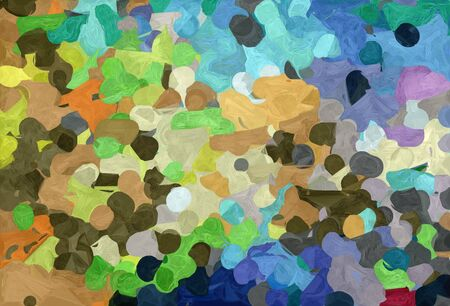 abstract decoration painting style with pastel brown, burly wood and sky blue colors. Stock Photo