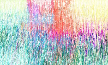 grunge drawing strokes background with copy space for text or image with light sea green, linen and mulberry  colors. can be used as wallpaper, background or graphic element.