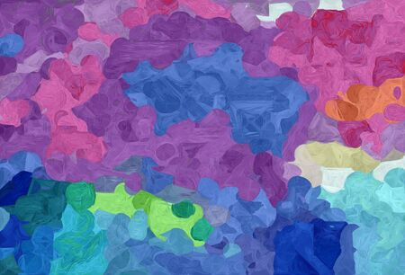 abstract natural painting style with slate blue, pale violet red and medium aqua marine colors. 스톡 콘텐츠