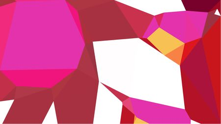 multicolor triangles with firebrick, deep pink and sandy brown color. abstract geometric background graphic. can be used for wallpaper, poster, cards or graphic elements.