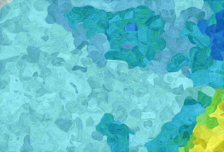 abstract colorful grunge painting style with sky blue, light sea green and green yellow colors. Stock Photo