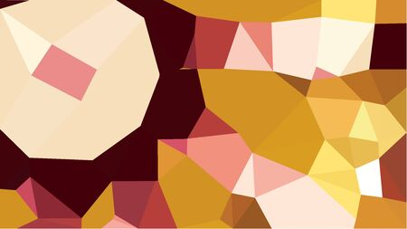 abstract geometric background with peach puff, bronze and dark red color triangles. can be used for wallpaper, poster, cards or graphic elements.